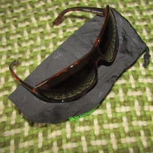 NATIVE sunglasses brown + hard zipper case & soft